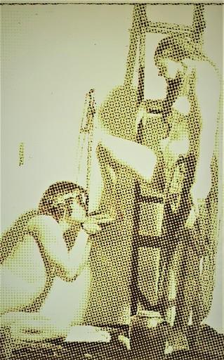 Alain JACQUET - 绘画 - L'ÉCHELLE - 1969