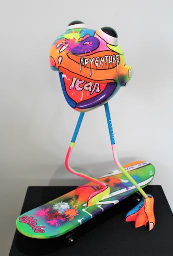 Flo HOMBECQ - Escultura - skater man2.