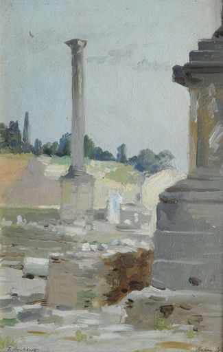 Feodor Feodorowitsch BUCHHOLZ - Painting - Roma.Forum Romanum