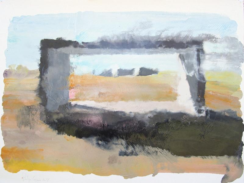 Philippe COGNÉE - Peinture - Sans titre - Marfa B (Citation D. Judd)