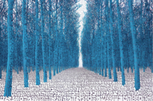 Tobia RAVA - Print-Multiple - Foresta alchemica azzurra
