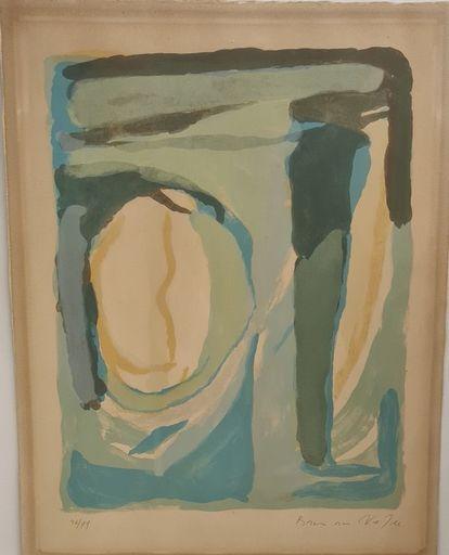 Abraham Gerardus VAN VELDE - Druckgrafik-Multiple - Composition en bleu et vert