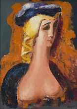 亚历山大·阿尔西品科 - 绘画 - Portrait of a Woman