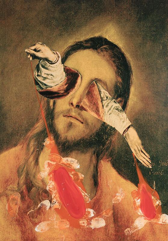 Jorge GALINDO - Painting - El greco en Borox imitation of Christ