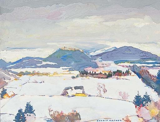 Rudolf HAFNER - 水彩作品 - Salzburg im Winter