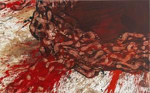 Hermann NITSCH - Painting - 70. Malaktion - Schüttbild