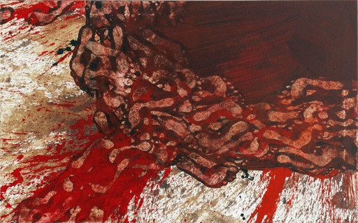 Hermann NITSCH - Painting - 70. Malaktion - Schüttbild