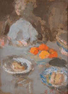 Édouard VUILLARD - Pintura - L'assiettte d'oranges