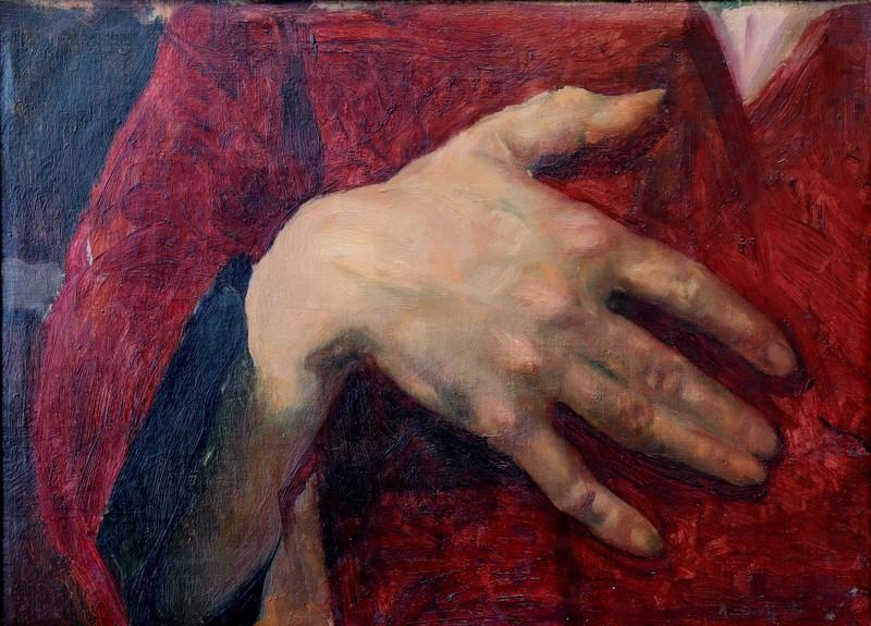 """André SIEFFERT - Painting - """"LA MAIN"""""""