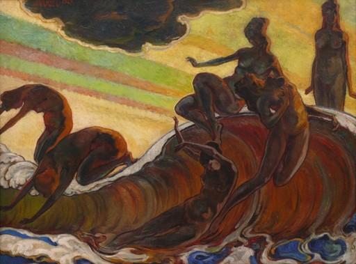 Julius VOGEL - Pintura - Die Welle