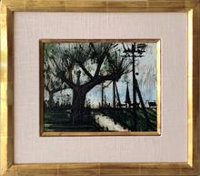 Bernard BUFFET - Peinture - Route et Elgise