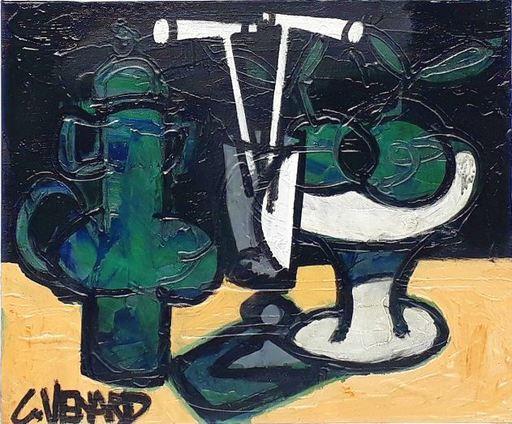 Claude VENARD - Pittura - Composition à la Cafetière Verte