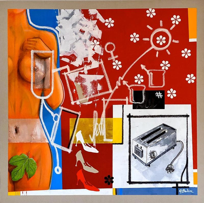 Ghazi BAKER - Painting - Toast your own f...g bread