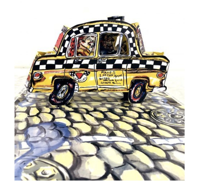 Red GROOMS - Scultura Volume - NYC RUCKUS TAXI