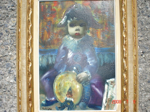 Jean CALOGERO - Pintura - arlequin