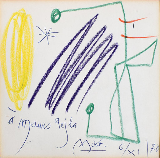 Joan MIRO - Dessin-Aquarelle - Untitled (Mauro Pejla) | Sans titre