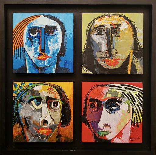 Vladimir CORA - Pintura - Quattro Cabezas V