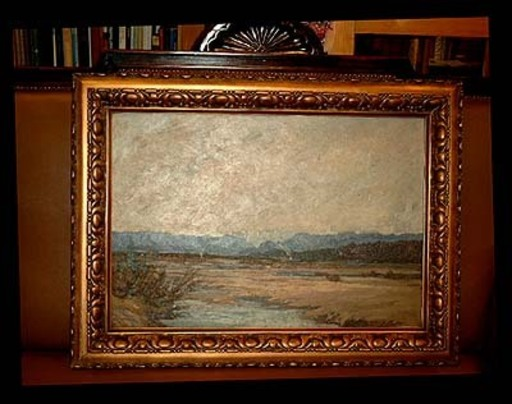 Eduard LAMMERT - Painting - Isartal im Voralpenland