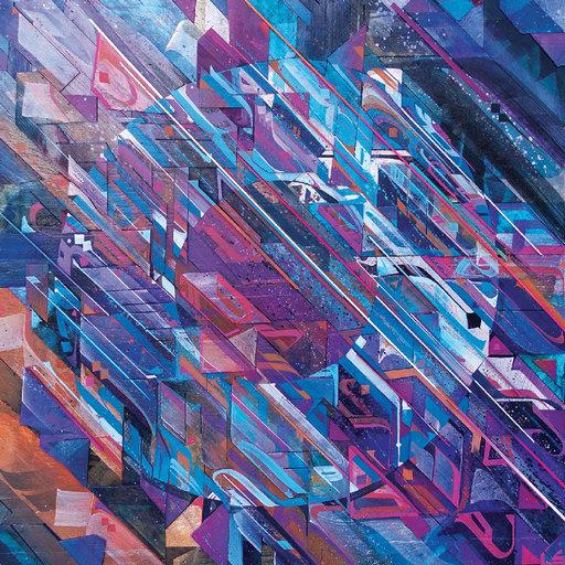 ZEPHA - Peinture - Ondes gravitationnelles VI