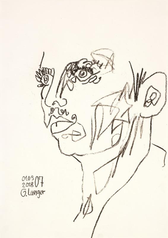 Gunter LANGER - Drawing-Watercolor - Magische Vision