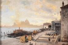 John Singer SARGENT - Pintura - Café on the Riva degli Schiavoni, Venice