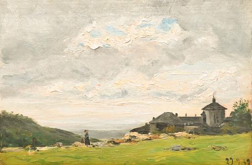 Lorenzo DELLEANI - Painting - Cappelle presso Oropa