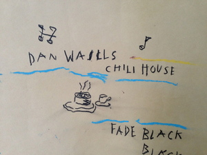 "Jean-Michel BASQUIAT, ""Dan Wall´s Chili House"""