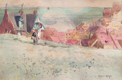 Francis GARAT - Dibujo Acuarela - Paysage