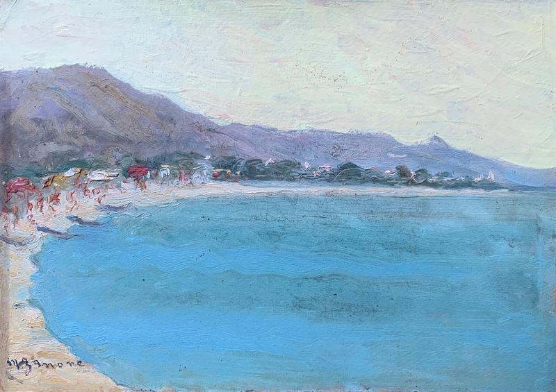 Maria ZANONE - Pintura - Mattino sulla spiaggia di San Benedetto