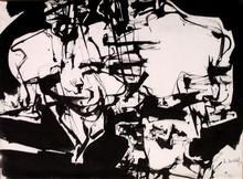 Philippe ARTIAS - Zeichnung Aquarell - Composizione