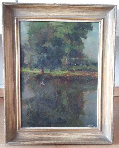 Vic DOOMS - Painting - Bos en meertje