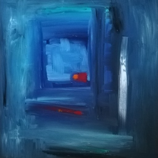 Lorena ULPIANI - Painting - Viaggio nel silenzio- olio materico spatolato