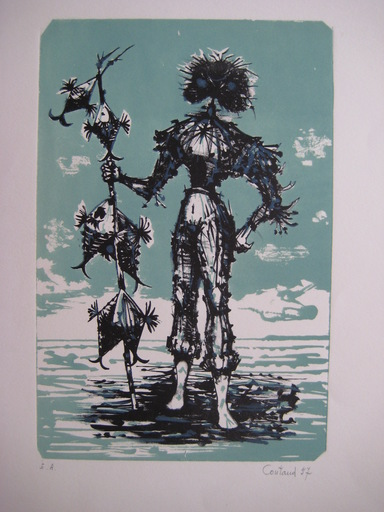 Lucien COUTAUD - Stampa-Multiplo - LITHOGRAPHIE 1957 SIGNÉE AU CRAYON EA HANDSIGNED LITHOGRAPH