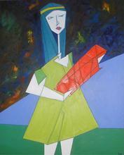 Abraham DAYAN - Painting - La petite fille du futur