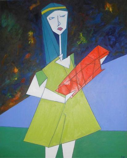 Abraham DAYAN - Peinture - La petite fille du futur