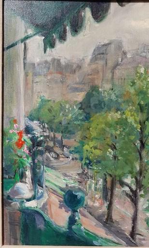 Jacques FAVRE DE THIERRENS - Pintura - Paris, le balcon