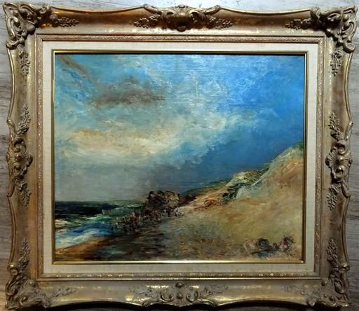 Conrad Jean Théodore CONRAD-KICKERT - Pittura - plage de Hossegore