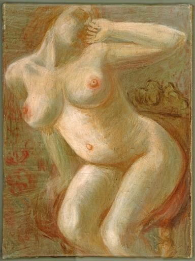 Karl HUBBUCH - Painting - Die müde Marianne