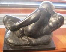Gleb W. DERUJINSKY - Escultura - Crouching Nude