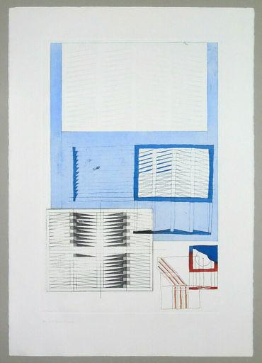 Agostino BONALUMI - Estampe-Multiple - Composizione