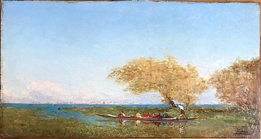 Félix ZIEM - Peinture - Départ pour le marché de Venise