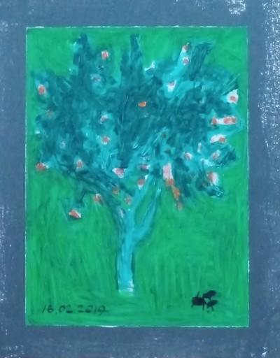 Harry BARTLETT FENNEY - Painting - the orange tree (2019 en es)