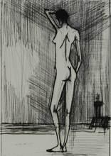 Bernard BUFFET - Estampe-Multiple - Nudo di schiena