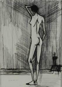 Bernard BUFFET - Grabado - Nudo di schiena