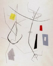 Dolf BREETVELT - Dibujo Acuarela - Abstract composition