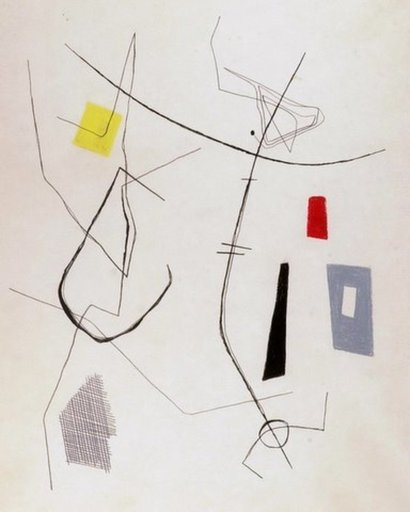 Dolf BREETVELT - Disegno Acquarello - Abstract composition