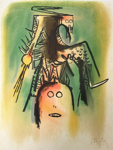 Wifredo LAM - Estampe-Multiple - Personnages