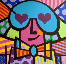 Romero BRITTO - Peinture - Romero Britto - Madly Love