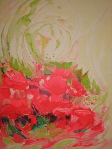 Claude HEMERET - Print-Multiple - La brassée de fleurs,1985.
