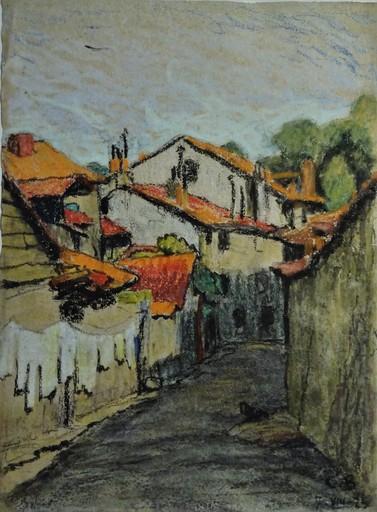 Charles Théodore BICHET - Drawing-Watercolor - Vieux quartier de Limoges, août 1925